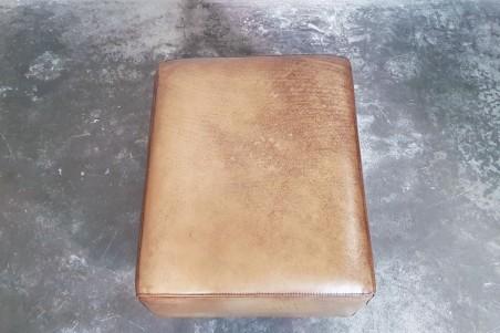 Repose pieds en cuir pour fauteuil, déco vintage, meuble style industriel, design loft