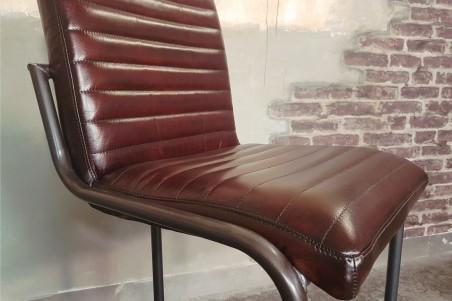 Chaise de bar ou îlot central en cuir style indus deco vintage design loft