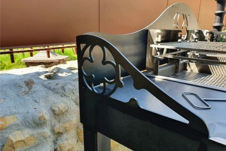 Barbecue metal style indus jardin design fabrication artisanale de qualité