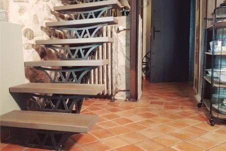 Escalier en métal et bois style industriel design loft décoration architecte