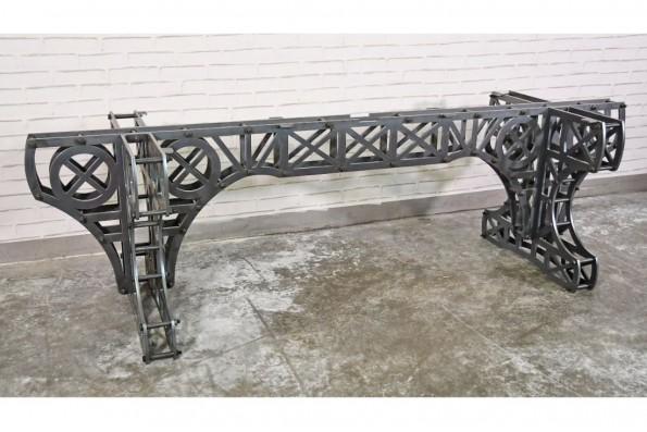 design Eiffel pieds métal piétement acier style industriel déco indus loft