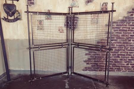 Paravent grillage style industriel séparation de pièce decoration vintage design loft
