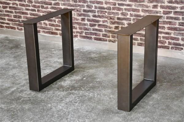 pieds métal piétement acier style industriel déco indus loft