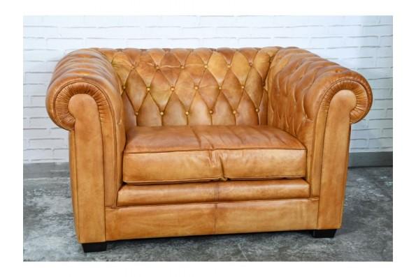 """Fauteuil cuir capitonné design """"chesterfield"""" style industriel déco indus loft"""