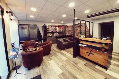 Comptoir de caisse professionnel métal bois décoration style industriel commerçant restaurant café bar
