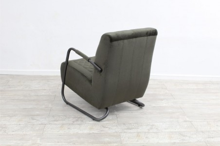 Fauteuils velours et métal siège voiture ancienne déco vintage style indus design loft art contemporain